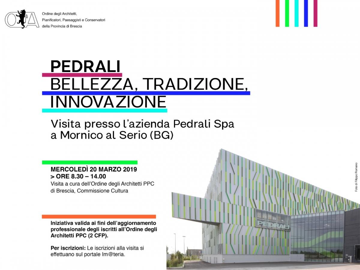 Ordine Architetti Brescia Lavoro 20 marzo 2019 - pedrali: bellezza, tradizione, innovazione
